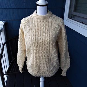 Carraig Made in Ireland Pure Wool Sweater Size M